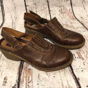 Clark's Artisan Slingback Clogs Mules Leather